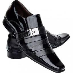 Sapato Social Verniz novo Ligue: *
