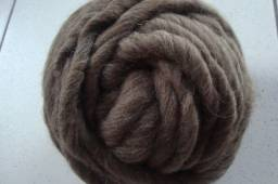 Lã corriedale preta 1 kg