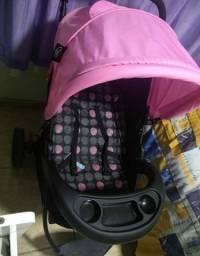 Carrinho preto e rosa