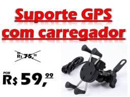 Suporte Garra P/ Celular Motos Universal C/ Carregador USB