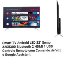 Smart tv Semp 32, nova caixa