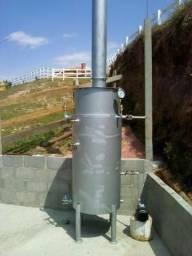 Caldeira a Lenha Nova 200 kg vapor/hora