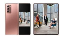 Título do anúncio: Smartphone Samsung Galaxy Z Fold 2 256GB - Mystic Bronze 5G - Lacrado e garantia de 1 ano