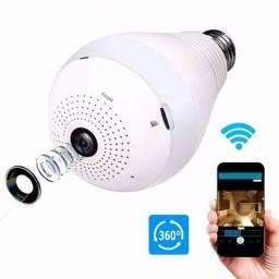 Lâmpada Filmadora LED com Camera 360º WIFI, Envia e Recebe Áudio