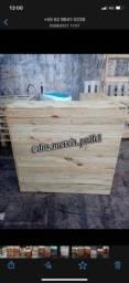Balcão caixa de pallet rústico