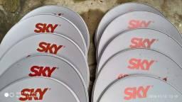 Antenas da sky nova com LNB