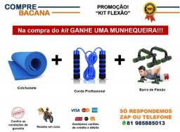 Kit Barras de flexão Corda Profissional Colchonete Brinde Promocional