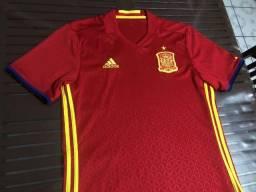 Título do anúncio: Camisa Adidas Espanha home 2016 - Tamanho M
