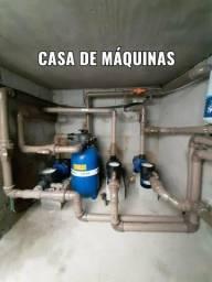 Instalação casa de maquinas e manutenção de piscina