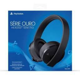 Título do anúncio: Headset PS4 Sony Gold Edition
