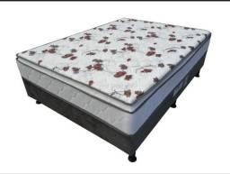 Cama - Grande Oportunidade - Box Casal Elegance com Pillow Top - Cama