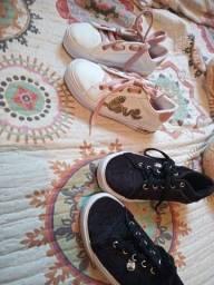 Título do anúncio: Tênis e bota infantil feminino