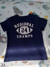 Título do anúncio: Carter's Camiseta de manga curta azul marinho estampa Futebol americano 5 anos Menino