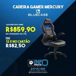 Título do anúncio: Cadeira Gamer Bluecase Preta e Azul