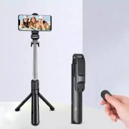 Tripé bastão Selfie 3 em 1 Controle bluetooth