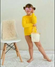 Blusa de proteção UV infantil