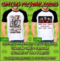Camisas La Casa de Papel - Coleção NerdDog Store