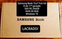 Notebook Samsung Book  i5, 8GB, 256GB SSD, Intel Iris Xe, 15.6'' Full HD LED