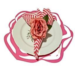 Sousplast Rosa - Mesa Posta Floral