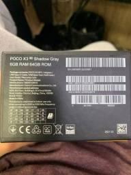 Título do anúncio: Poco x3 aparelho novo nunca usado 64 gb 6 gb ram nfc versao global