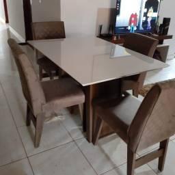 Mesa de jantar 4 cadeira retangula 120x90//Nova na caixa