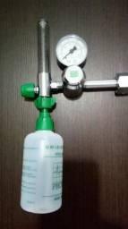 Válvula reguladora pressão oxigenio medicinal + Oxímetro 2x1 Digital de dedo Bioland