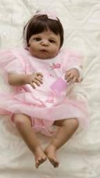 Bebê reborn menina silicone Pronta entrega morena