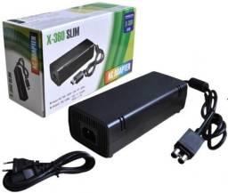 Fonte Xbox 360 Slim Bivolt 110v 220v 135w Ac com Cabo de Força Promoção