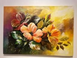 Quadro artístico pintado à mão
