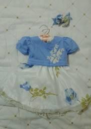 Vestido de festa - Infantil (1 ano aprox)