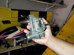 Motor 4 tempos semi novo asp 91 super forte vai com vela e hélice