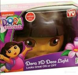 Luminária LED 3D Dora Aventureira Novo!