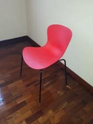 Lindas cadeiras vermelhas (preço de 4 cadeiras)