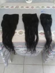 Mega hair na tela 55cm cabelo humano