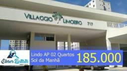 02 Qtos, 57m², Andar Alto e Sol da Manhã em Jardim Limoeiro