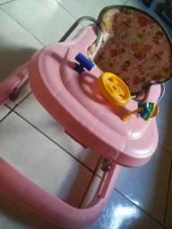 Andador infantil rosa