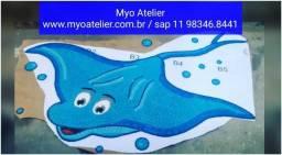 Raia mosaico para piscina, peixe, tartaruga, polvo, cavalo marinho, mosaico