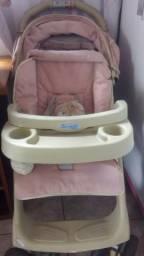 Carrinho com porta copos Linea Burigotto +bebê conforto