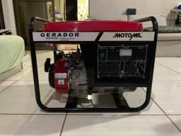 Gerador A Gasolina 3000w 6.5Hp, 110/220v Motomil- Novo, Na Caixa