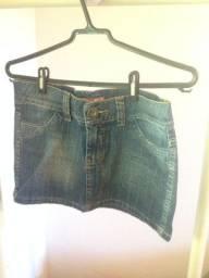 Saia jeans feminina tamanho 36