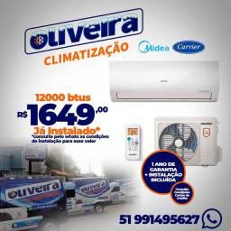 Midea melhor marca de ar condicionado Split com menor preço já instalado