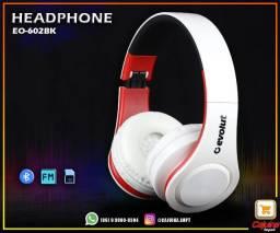 Headphone Bluetooth 5.0 Evolut Preto ? EO602-BK t10sd11sd20