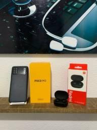 Poco M3 Xiaomi com 1 mês de uso + Fone Redmi 2