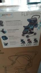 Título do anúncio: Carrinho de bebê/berço - Azul ou Rosa- Lacrado