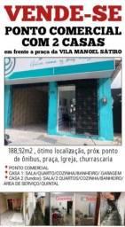 URGENTE: Vende-se 2 casas + Ponto Comercial