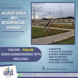 Título do anúncio: Alugo casa no Residencial Hawaii com 2 quartos