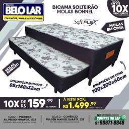 Título do anúncio: Bi-Cama Solteirão Molas Bonnel