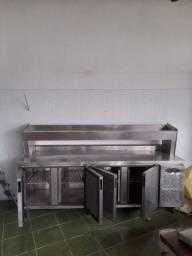 Título do anúncio: Balcão industrial  horizontal . Freezer e geladeira