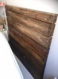 Cabeceira de cama (Madeira de demolição)