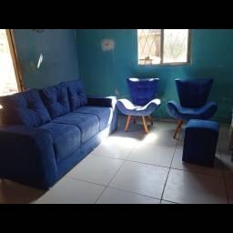 Fabricamos lindos sofás de cadeira canoa e puff